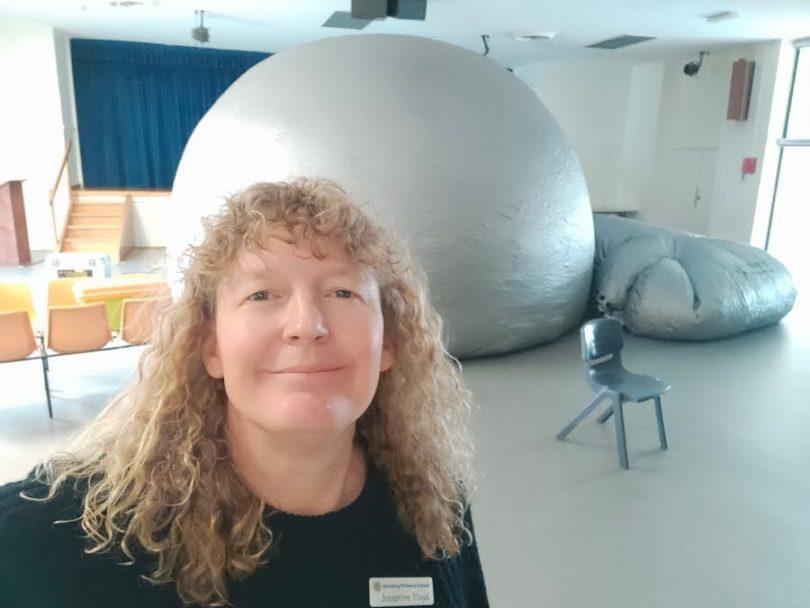 Josie and Canberra's only portable 'Planetarium